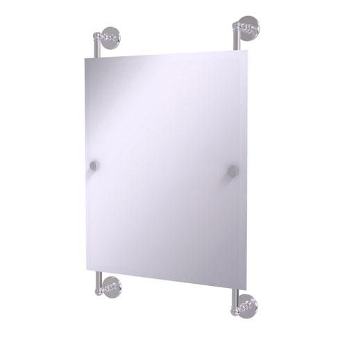 Prestige Skyline Satin Chrome 21-Inch Rectangular Frameless Rail Mounted Mirror