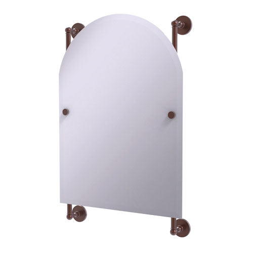 Prestige Skyline Antique Copper 21-Inch Arched Top Frameless Rail Mounted Mirror