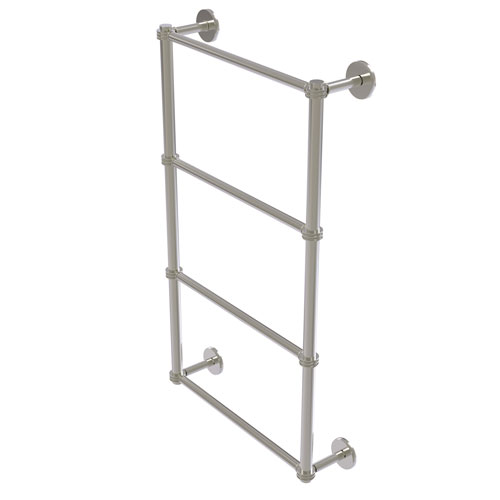 Prestige Skyline Satin Nickel 36-Inch Four Tier Ladder Towel Bar with Dotted Detail