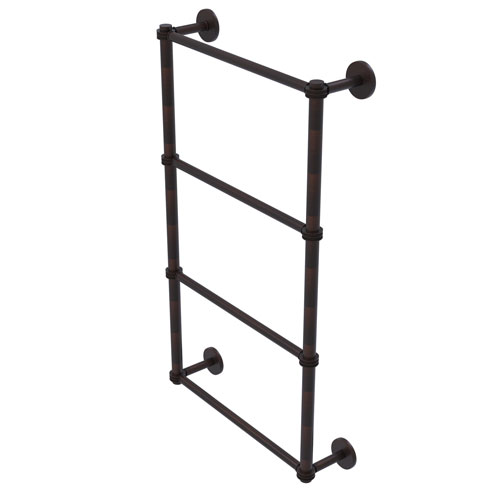 Prestige Skyline Venetian Bronze 36-Inch Four Tier Ladder Towel Bar with Dotted Detail