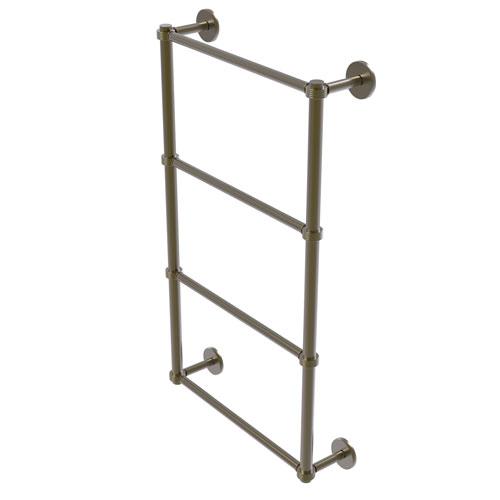 Prestige Skyline Antique Brass 24-Inch Four Tier Ladder Towel Bar with Groovy Detail