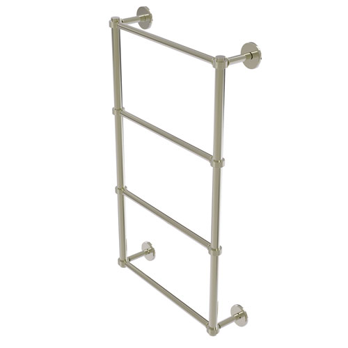 Prestige Skyline Polished Nickel 24-Inch Four Tier Ladder Towel Bar with Groovy Detail