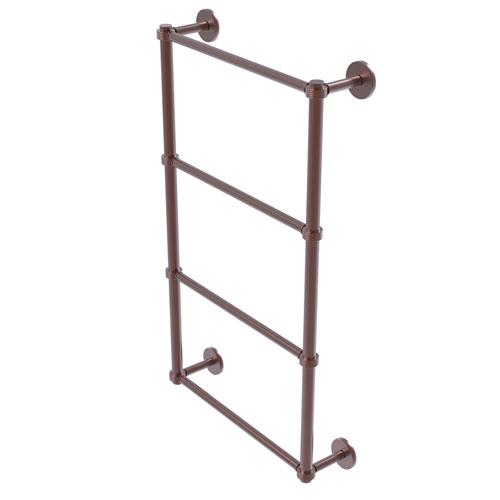 Prestige Skyline Antique Copper 30-Inch Four Tier Ladder Towel Bar with Groovy Detail