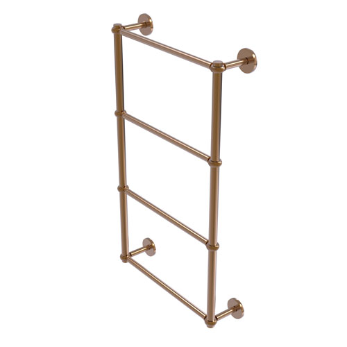 Prestige Skyline Brushed Bronze 30-Inch Four-Tier Ladder Towel Bar with Twisted Detail