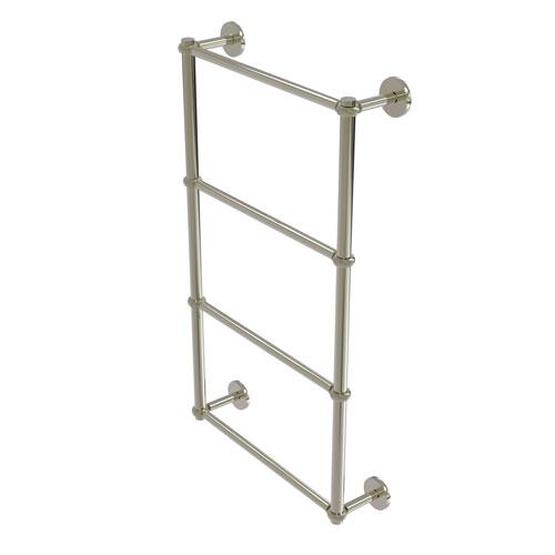 Prestige Skyline Polished Nickel 36-Inch Four-Tier Ladder Towel Bar with Twisted Detail