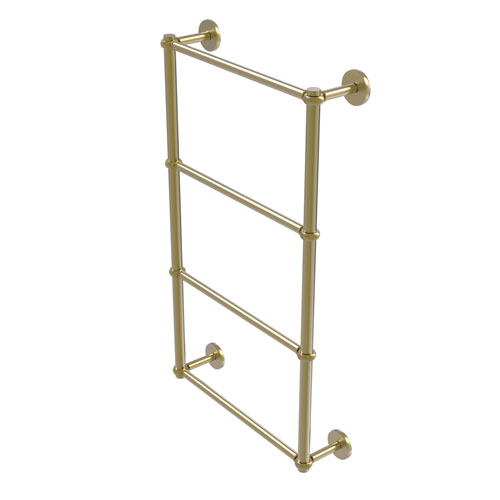 Prestige Skyline Satin Brass 36-Inch Four-Tier Ladder Towel Bar with Twisted Detail