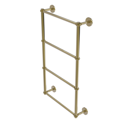 Prestige Skyline Unlacquered Brass 36-Inch Four-Tier Ladder Towel Bar with Twisted Detail