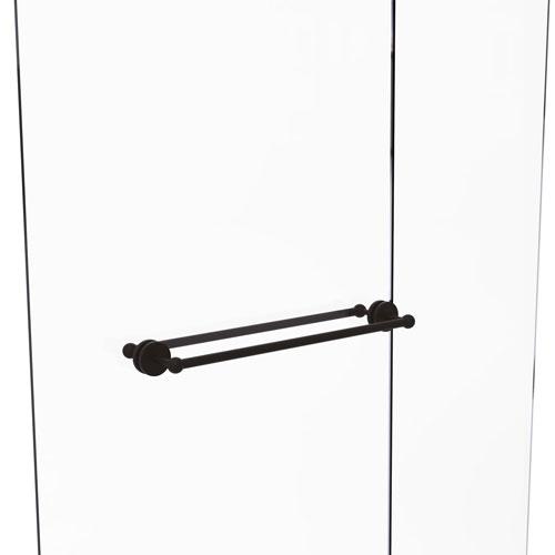 Prestige Skyline Oil Rubbed Bronze 24-Inch Back to Back Shower Door Towel Bar