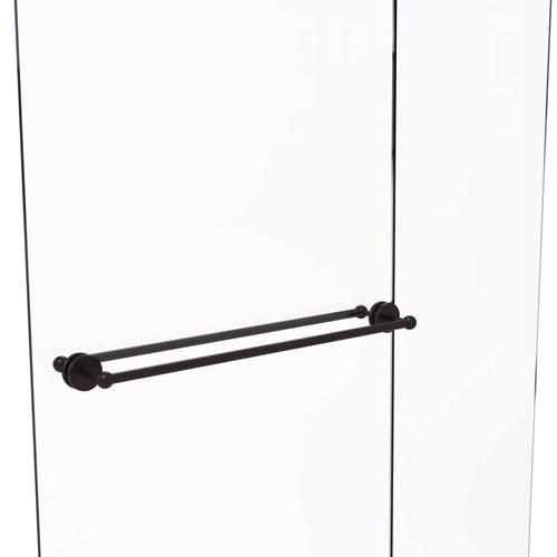 Prestige Skyline Antique Bronze 30-Inch Back to Back Shower Door Towel Bar