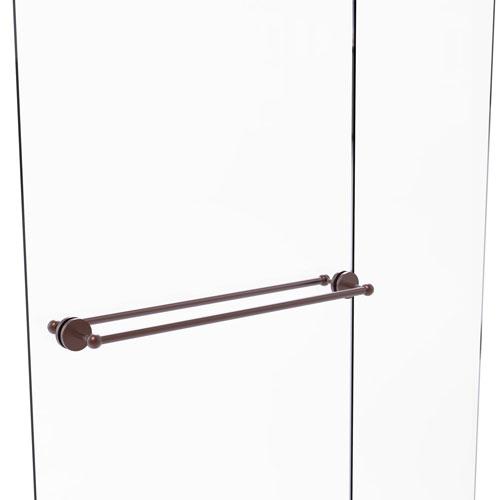 Prestige Skyline Antique Copper 30-Inch Back to Back Shower Door Towel Bar