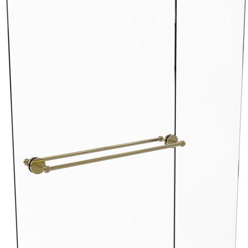 Prestige Skyline Unlacquered Brass 30-Inch Back to Back Shower Door Towel Bar