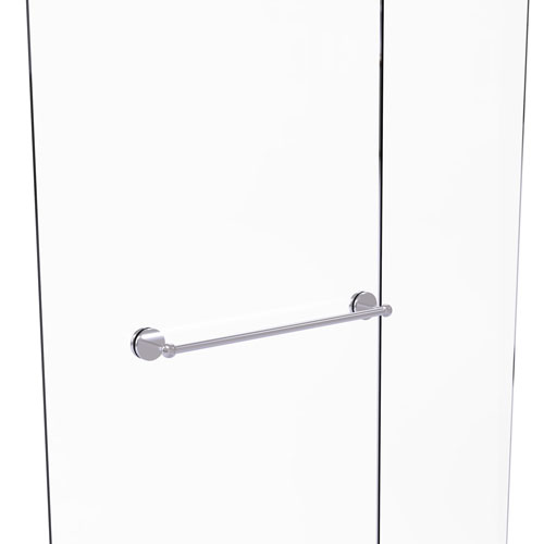 Allied Brass WP-41-BB-24-SCH Waverly Place Collection 24 Inch Back Shower Door Towel Bar Satin Chrome