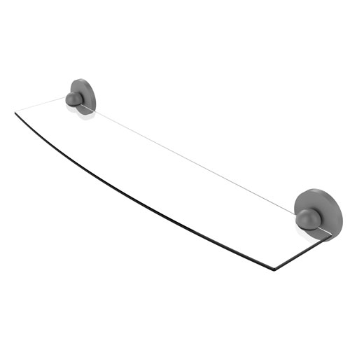 Prestige Skyline Matte Gray 24-Inch Glass Shelf