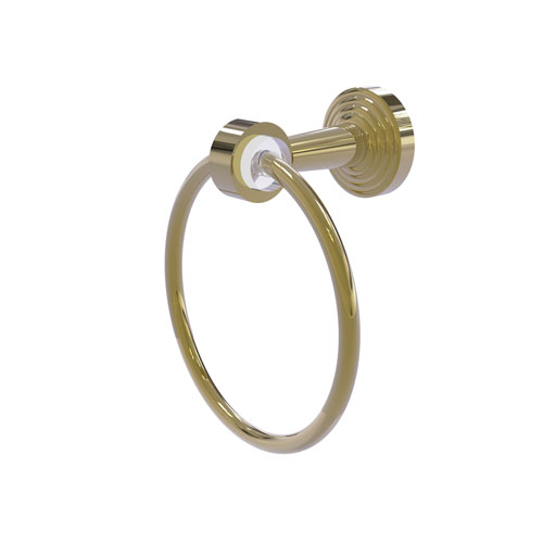 Pacific Beach Unlacquered Brass 21-Inch Towel Ring