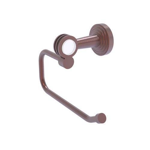 Pacific Beach Antique Copper Six-Inch Toilet Tissue Holder with Dotted Accents