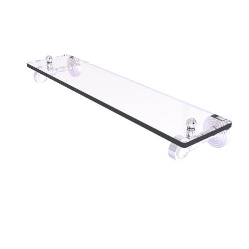 Pacific Grove Polished Chrome 22-Inch Glass Shelf