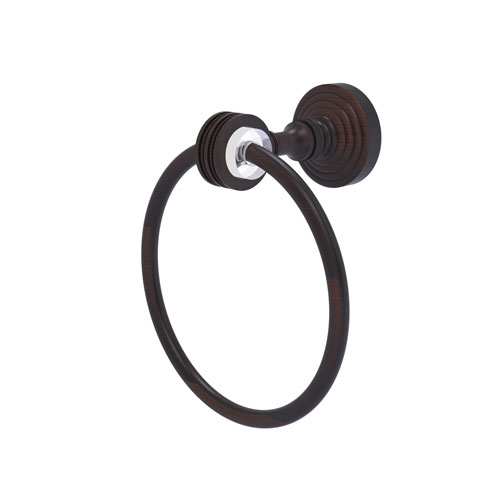 Pacific Grove Venetian Bronze Seven-Inch Towel Ring with Dotted Accents
