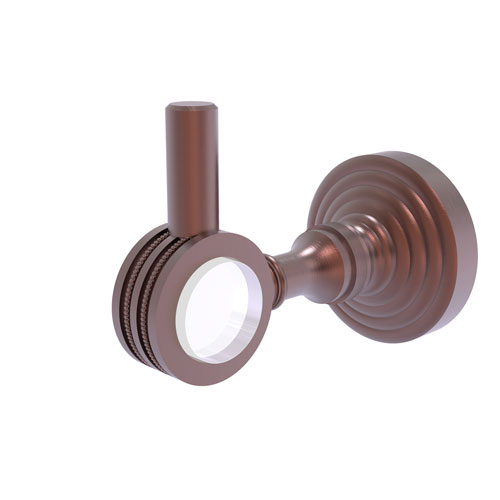 Pacific Grove Antique Copper Three-Inch Robe Hook with Dotted Accents