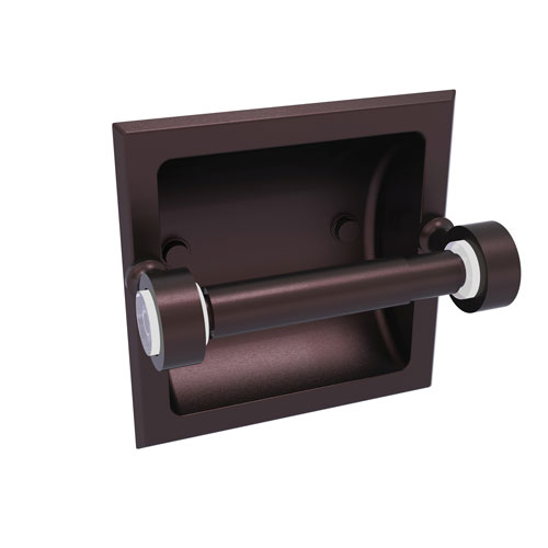 Pacific Grove Antique Bronze Six-Inch Recessed Toilet Paper Holder
