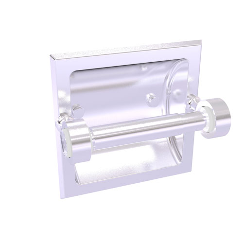 Pacific Grove Satin Chrome Six-Inch Recessed Toilet Paper Holder