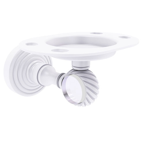 Pacific Grove Matte White Three-Inch Tumbler and Toothbrush Holder with Twist Accent