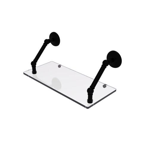 Prestige Monte Carlo Matte Black 18-Inch Floating Glass Shelf