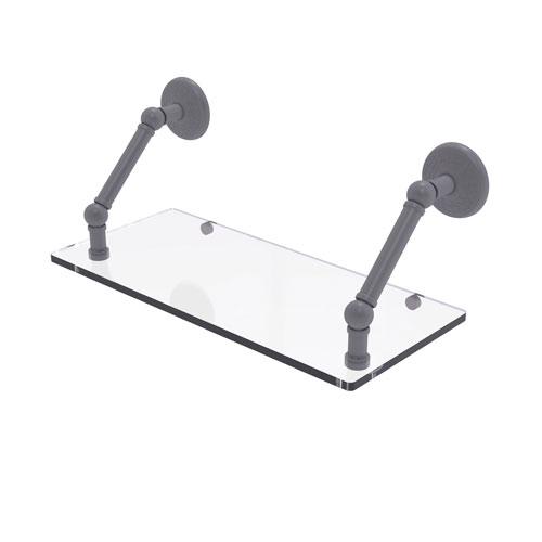 Prestige Monte Carlo Matte Gray 18-Inch Floating Glass Shelf