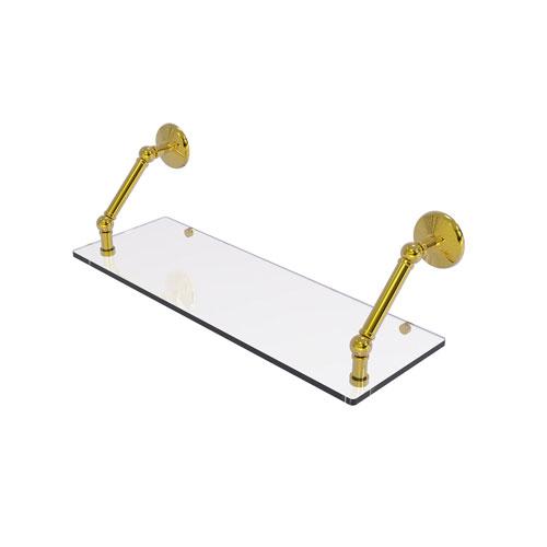 Prestige Monte Carlo Polished Brass 24-Inch Floating Glass Shelf