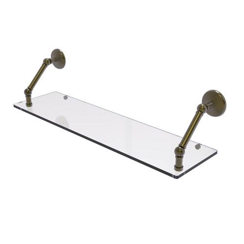 Prestige Monte Carlo Antique Brass 30-Inch Floating Glass Shelf