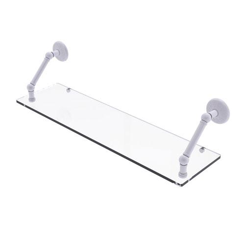 Prestige Monte Carlo Matte White 30-Inch Floating Glass Shelf