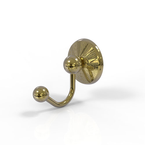 Prestige Monte Carlo Unlacquered Brass Three-Inch Robe Hook