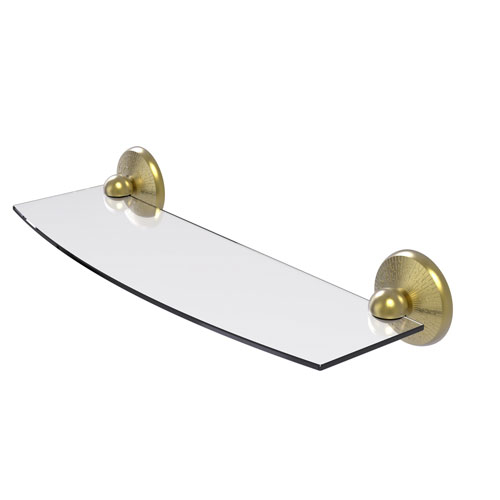 Prestige Monte Carlo Satin Brass 18-Inch Glass Shelf