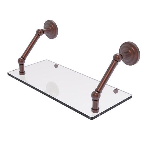 Prestige Que New Antique Copper 18-Inch Floating Glass Shelf