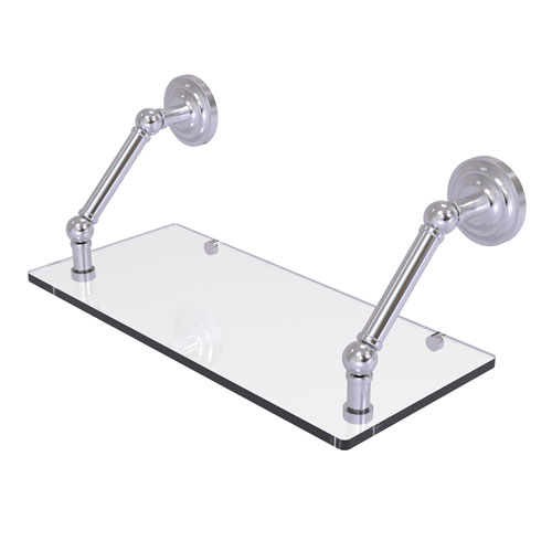 Prestige Que New Satin Chrome 18-Inch Floating Glass Shelf