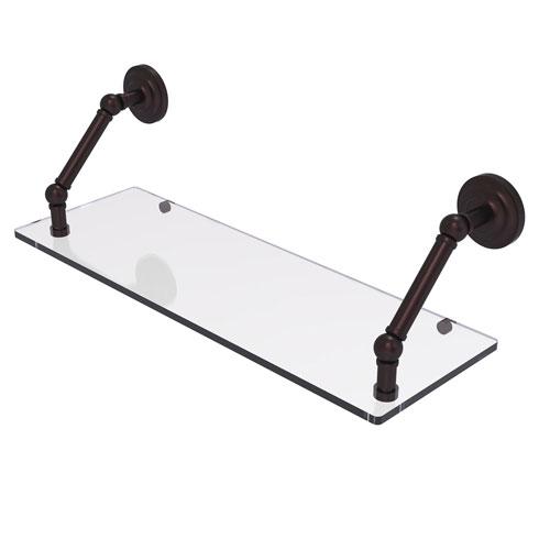 Prestige Que New Antique Bronze 24-Inch Floating Glass Shelf