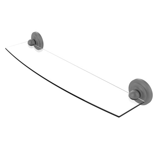 Prestige Que New Matte Gray 24-Inch Glass Shelf