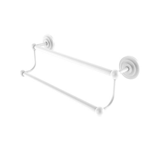 Prestige Que New Matte White 36-Inch Double Towel Bar