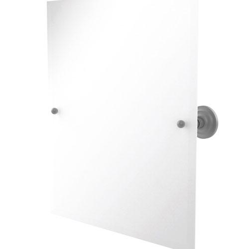 Prestige Que New Matte Gray 21-Inch Frameless Rectangular Tilt Mirror with Beveled Edge
