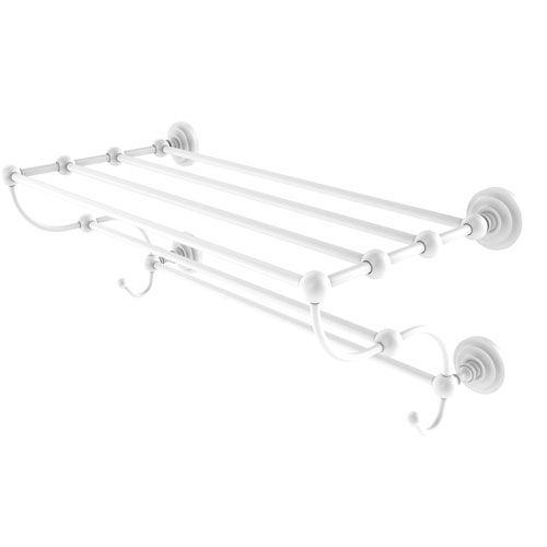 Prestige Que New Matte White 36-Inch Train Rack Towel Shelf