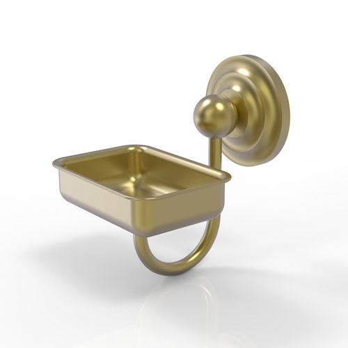 Prestige Que New Satin Brass Four-Inch Wall Mounted Soap Dish