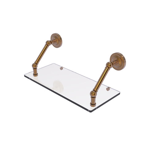 Prestige Regal Brushed Bronze 18-Inch Floating Glass Shelf