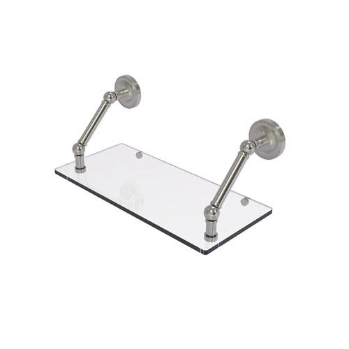 Prestige Regal Satin Nickel 18-Inch Floating Glass Shelf