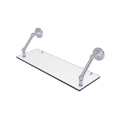 Prestige Regal Satin Chrome 24-Inch Floating Glass Shelf