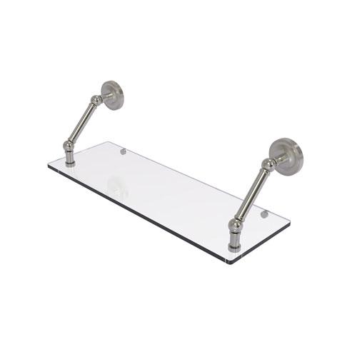 Prestige Regal Satin Nickel 24-Inch Floating Glass Shelf
