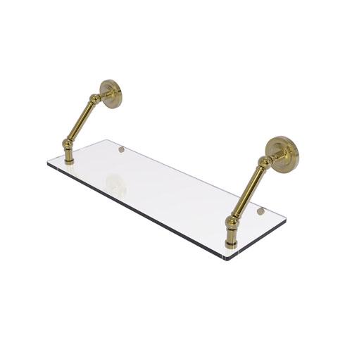 Prestige Regal Unlacquered Brass 24-Inch Floating Glass Shelf