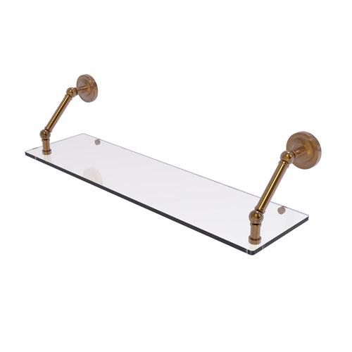 Prestige Regal Brushed Bronze 30-Inch Floating Glass Shelf