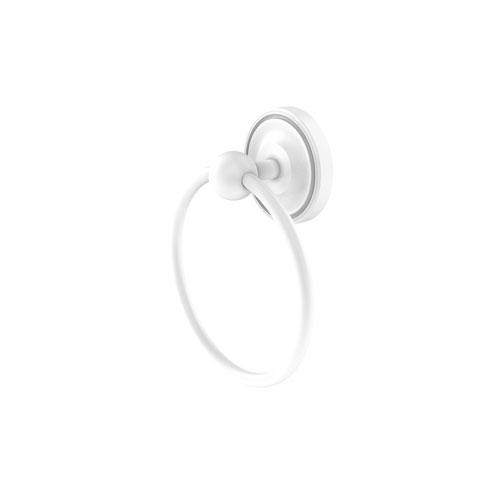 Prestige Regal Matte White Six-Inch Towel Ring