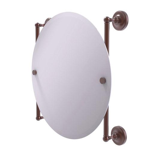 Prestige Regal Antique Copper 22-Inch Round Frameless Rail Mounted Mirror