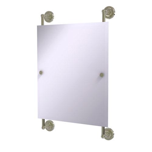 Prestige Regal Polished Nickel 21-Inch Rectangular Frameless Rail Mounted Mirror