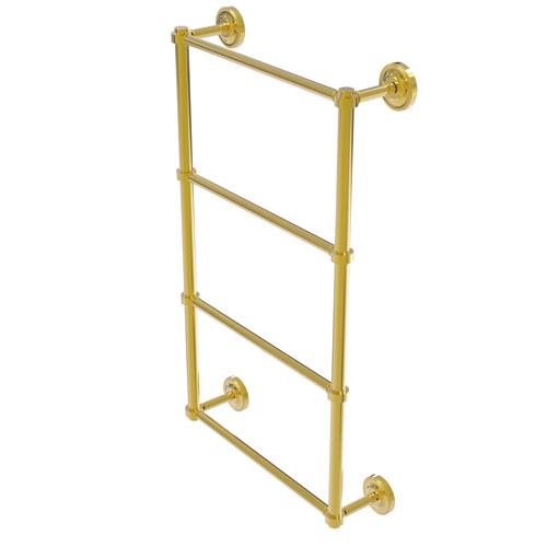 Prestige Regal Polished Brass 24-Inch Four-Tier Ladder Towel Bar
